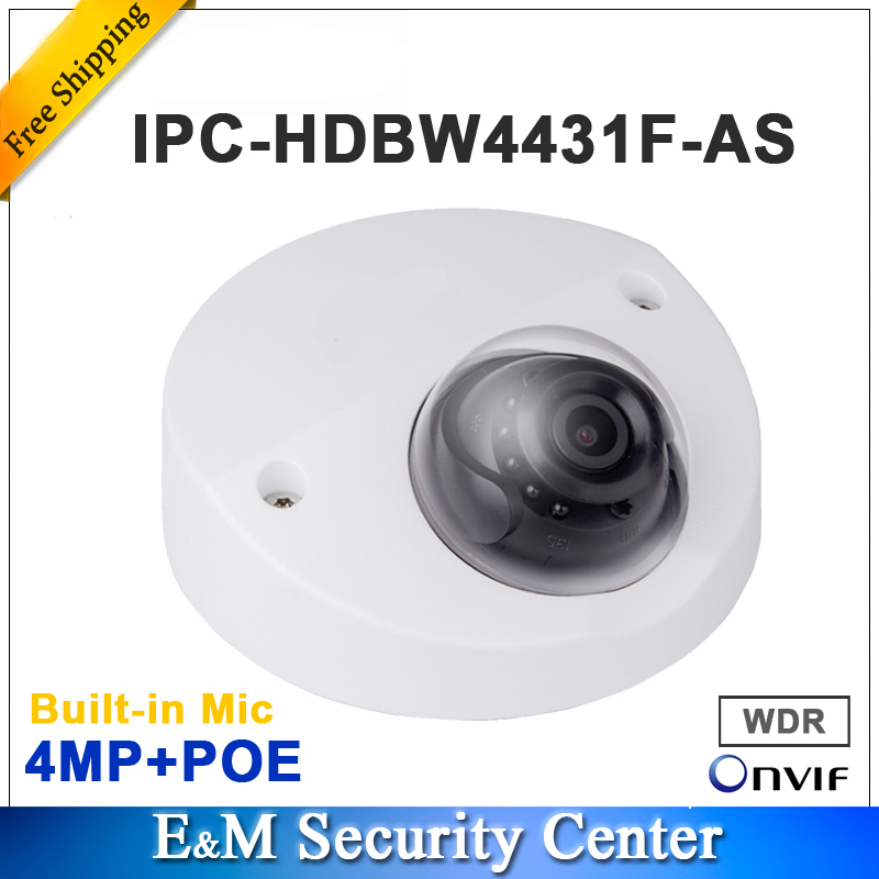 Wholesale original with logo IPC HDBW4431F AS 4MP IR Mini Dome Network Built in Mic POE