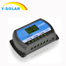 30A 20A 10A солнечные контроллеры заряда ЖК-ШИМ с DC 5 В USB 12 в 24 в автоматический переключатель солнечной панели регулятор напряжения RTD серии Y-SOLAR