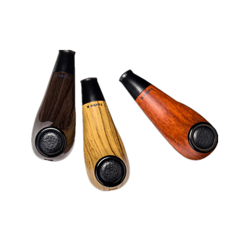 Original Kamry Turbo K Wooden Pipe Electronic Cigarette Kit with 1000mAh Battery 2ml Capacity Top Refill