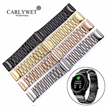 CARLYWET 20 22 26mm High Quality Easy Quick Install Replacement Solid Watch Bands Bracelets Straps For Garmin Fenix 3/5/5X/5S