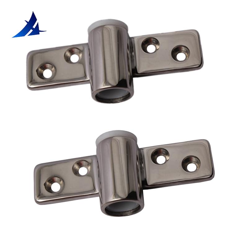 2PCS Boat Stainless Steel Oarlock Socket Side Mount Line Rowlock Boat Parts Accessories