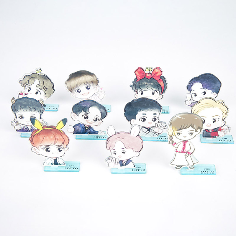 Beads & Jewelry Making Jewelry & Accessories Kpop Exo Members Acrylic Standee Action Figure Doll 7th Anniversary Chanyeol Baekhyun Standing Action Table Decor 18cm High Quality Materials