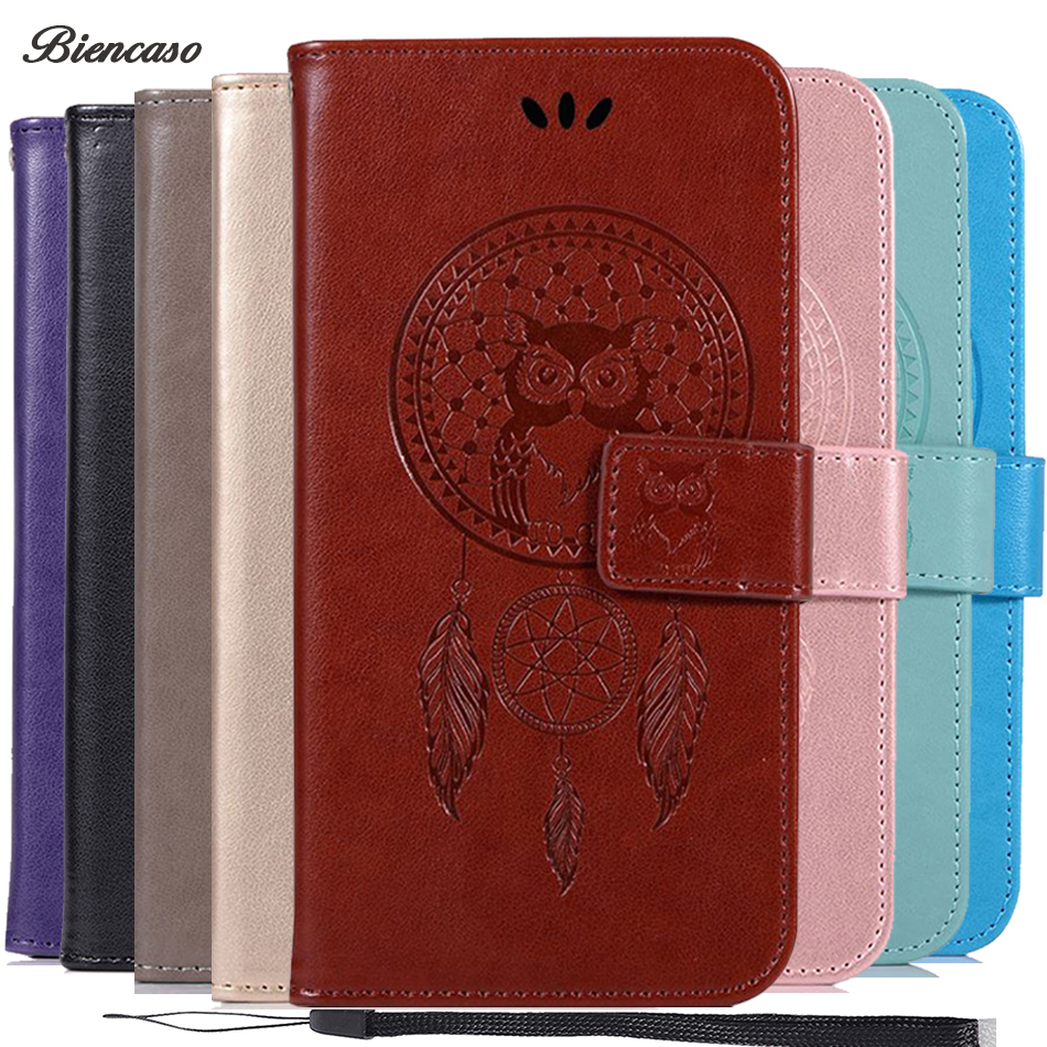 Biencaso Owl Wallet Flip Case For Xiaomi 5X A1 5S 6 Redmi 3S 4 4A 4X 5 5A 5 Plus Note 4 4X 5 Pro PU Leather Silicone Fundas B183