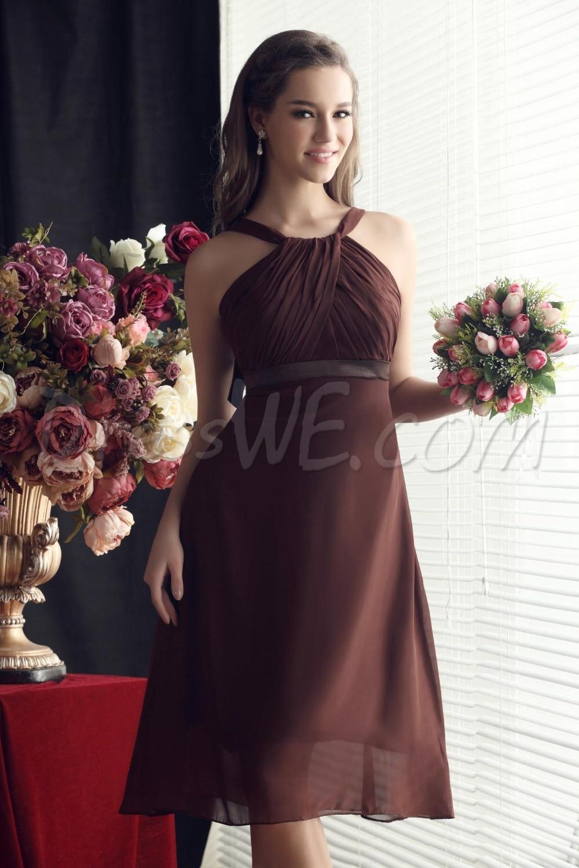 2016 free shipping women gown vestido de madrinha de casamento longo new fashionable sexy short party prom Bridesmaid Dresses in Bridesmaid Dresses from Weddings Events