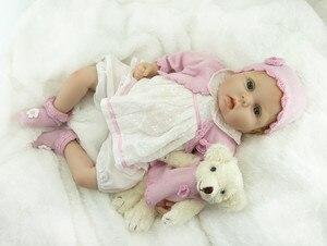 Image 4 - NPK Muñeca realista de silicona suave para niños, muñeco de bebé recién nacido de 55CM, 22 pulgadas