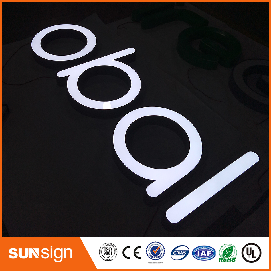 Sunsign Factory Outlet Outdoor Acrylic Signs Channel Letter