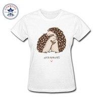 2017 Fashion New Gift Tee Girl S Hedgehog Hug Funny Cute Animal Cotton Funny T Shirt