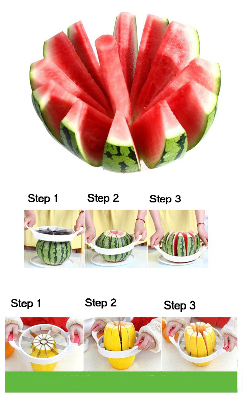 Kitchen gadgets 2018 Summer Stainless Steel Watermelon Sliced cutter knife fruit Slicer Salad Making tools kitchen accessories  (15)