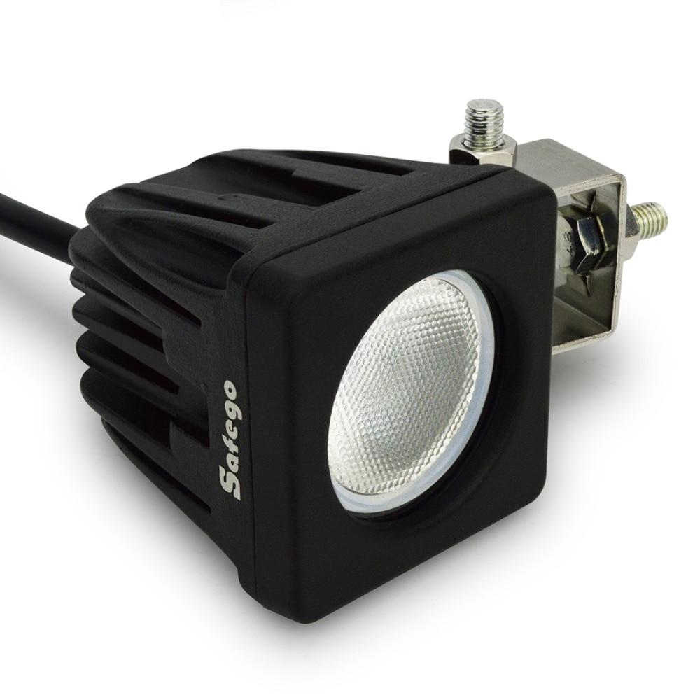10W led munkalámpa Négyzetes spot árvíz 12V LED munkalámpa 10W - Autó világítás - Fénykép 4