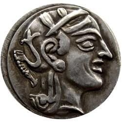 G(02)Ancient Athens Greek Silver Drachm - Atena Greece Owl Drachma copy coins