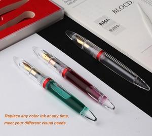 Image 5 - Moonman M2  Fully Transparent Dropper Fountain Pen Large Capacity Ink Storing Iridium Point EF/F Nib Fashion Writing Gift Set