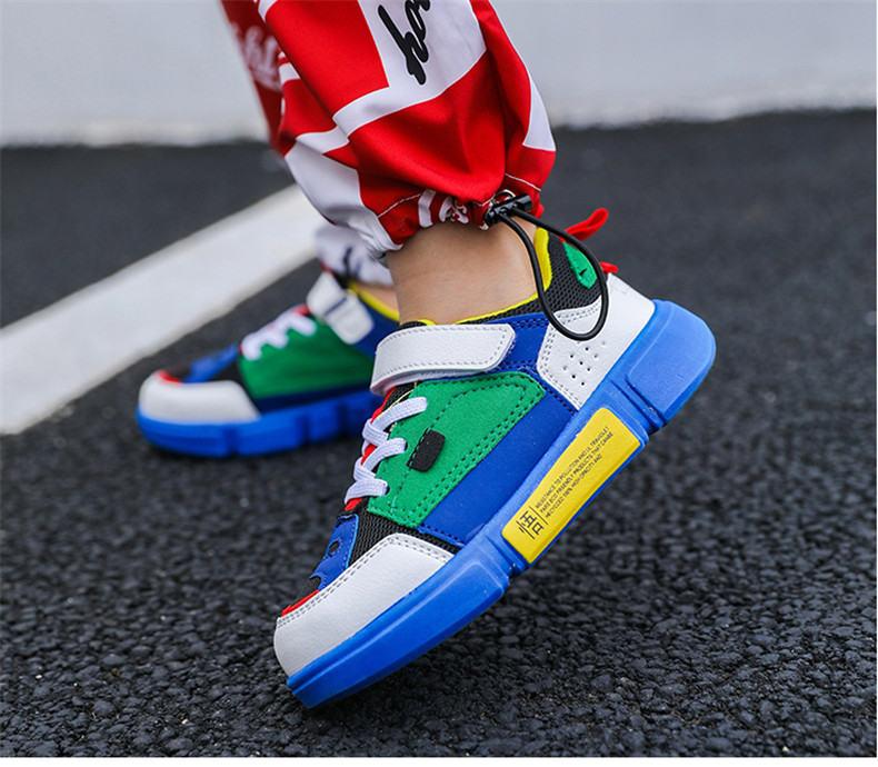 2019 Autumn New Girls Sneaker Kids Shoes Fashion Breathable Pink Leisure Sports Running Shoes For Boys Brand Casual Children Shoes (11)