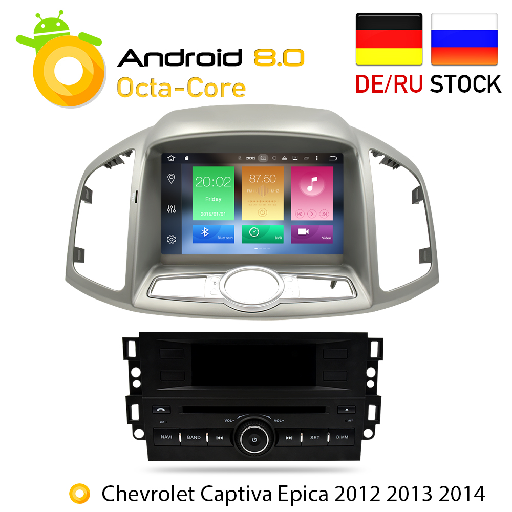 4G RAM Android 8.0 Car DVD Stereo For Chevrolet Captiva Epica 2012 2013 2014 2015 Auto Radio GPS Navigation Multimedia Audio
