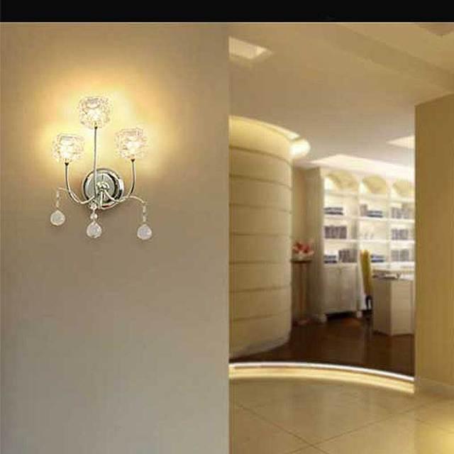 Classic LED Crystal Wall Lamp Home Lighting Living Room Modern G4 ...