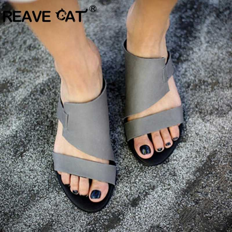 REAVE CAT summer women shoes round peep