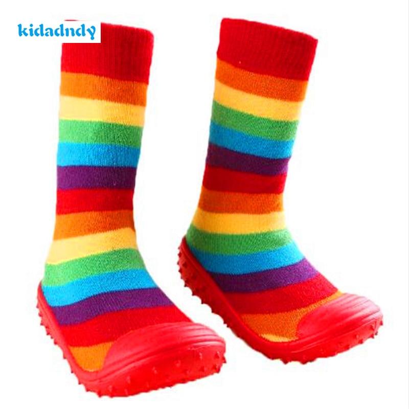 Kidadndy Kaus Balita Sepatu Bayi Anak Perempuan Anak Laki-laki Kaus Kaki  dengan Karet Sol Anti Slip Balita Indoor Lantai Sepatu Bayi Kaus Kaki LMY206 4b0ba5732d