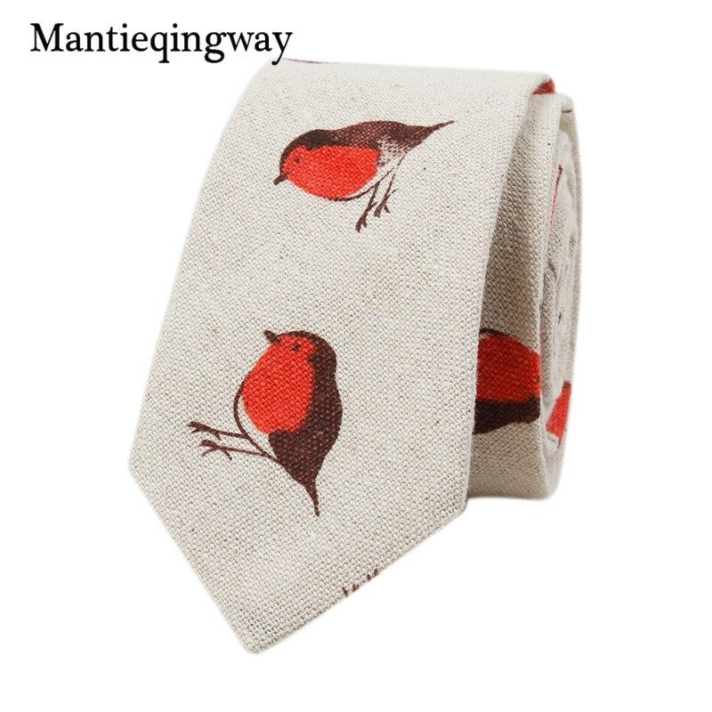 6cm Mens Accessories Floral Bird Pattern Neckties Jacquard Wedding Tie For Men Cotton&Linen Neck Ties Gravats Gift