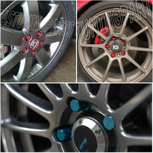 Image 5 - Roues de blocage de roues en alliage daluminium, rayons VOLK, écrous de course, longueur 35MM 12x1, 5/1, 25, RS LN005