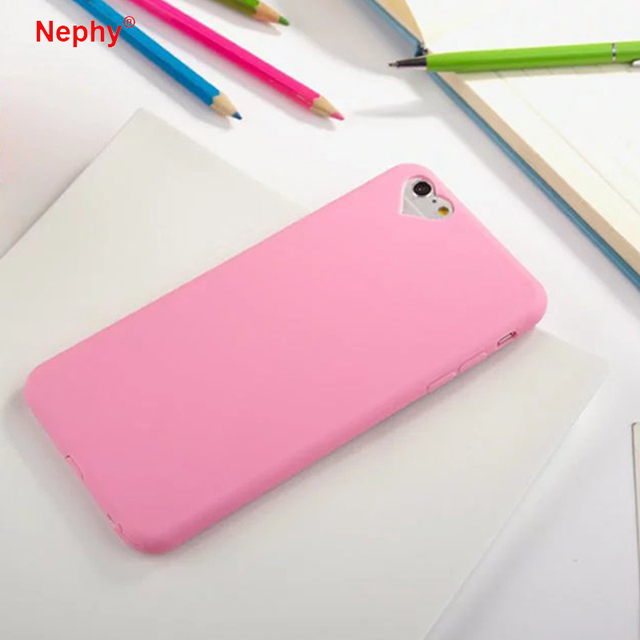 Nephy Love Hole Cases Cover For iPhone 7 6 6s Plus 5S SE Coque Ultra Slim Capa Soft TPU For iPhone 6 7 Case olid color Fundas