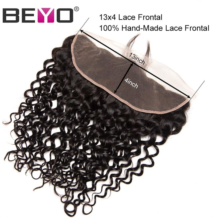 Beyo pré-pincé dentelle frontale fermeture vague brésilienne vague - Cheveux humains (noir) - Photo 3