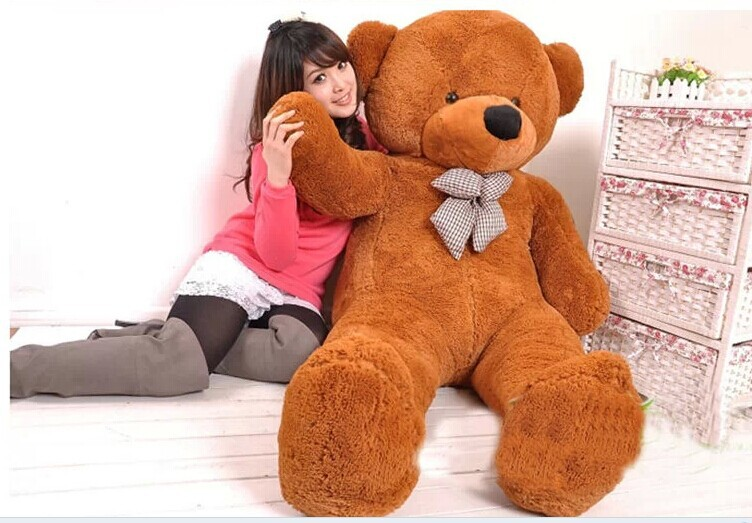 Stuffed animal 180cm dark brown Teddy bear plush toy soft doll throw pillow gift w2064 retail 1 piece 9 23cm mr bean bear teddy doll animal stuffed plush toys brown figure kid christmas birthday gift