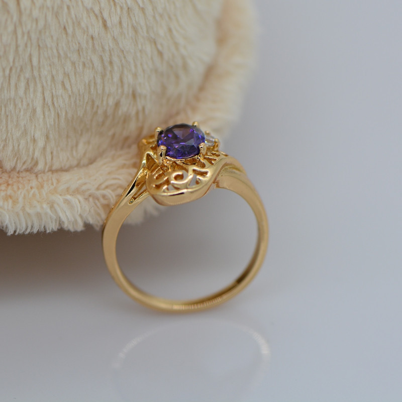 Интернет магазин 2014 new fashion ring 18k gold A purple stone