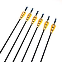 6pcs 12pcs Hunting Fiberglass Arrow 31 Spine700 With Orange Feather For Recurve Bow Arrow Or Long