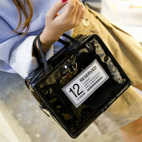 Candy Colors Fashion Waterproof Lunch Bag PU Picnic Bag Women S Insulated Lunch Bag Portable Organizer