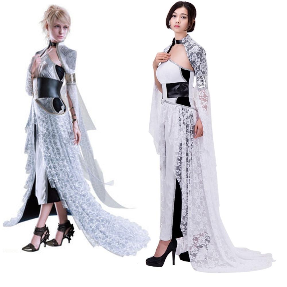 Cosplaydiy Movie Kingsglaive Final Fantasy XV Lunafreya Nox Fleuret Dress Adult Women Halloween Cosplay Costume Custom Made J5