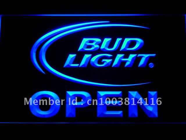 025 Bud <font><b>Light</b></font> Beer OPEN Bar LED Neon Sign with On/Off Switch 20+ Colors 5 Sizes to choose