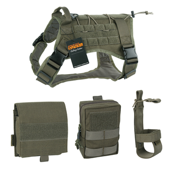 EXCELLENT ELITE SPANKER Tactical Battle Dog Clothes Suit Military Outdoor Training Molle Vest Harness Pets Hunting Accessories 2