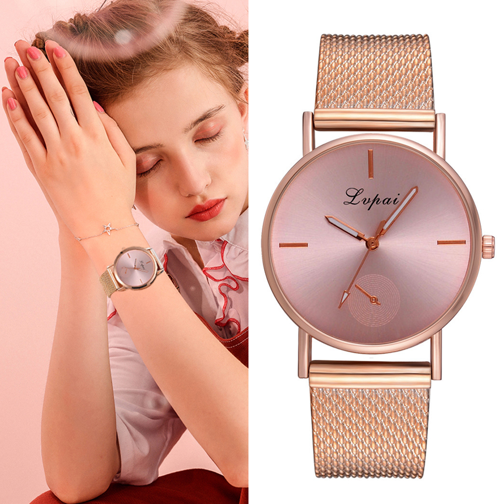 Fashion Luxury Ladies Crystal Watch Waterproof Rose Gold Steel Mesh Quartz Women Watches Top Brand Clock Relogio Feminino