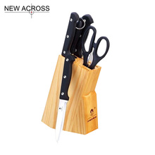 Gohide 6pcs/Set Kitchen Cutting Tools Kitchen Knives Sets Stainless Steel Boning Knife Chef Knife S And Fruit Knife Scissors