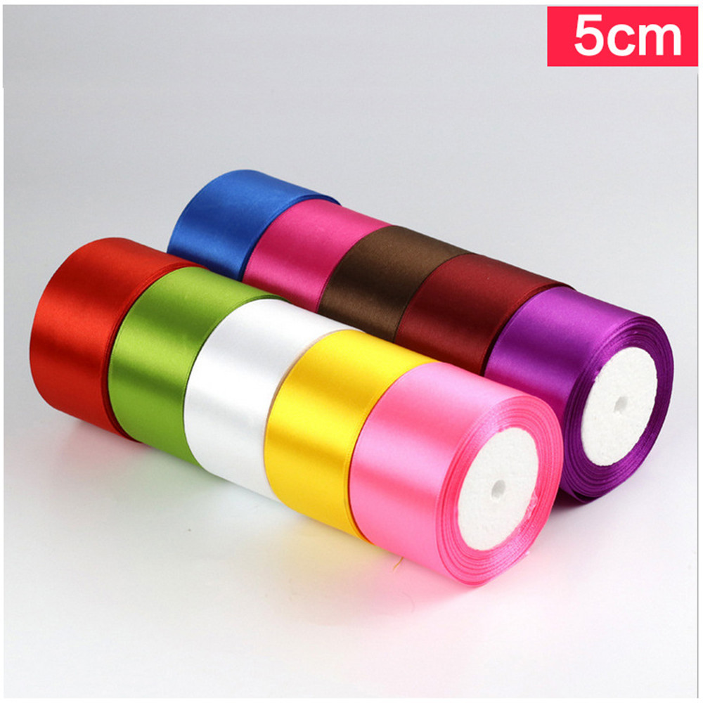 2'' (50mm)  RibbonS Stain For Wedding Party Decoration Invitation Card Gift Wrapping Christmas Supplies