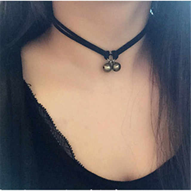 New Fashion 15mm Silver Bell Trendy Sexy Hollow Flower Pendant Water Drop Chokers Necklace Collar Jewellry Women Jewelry