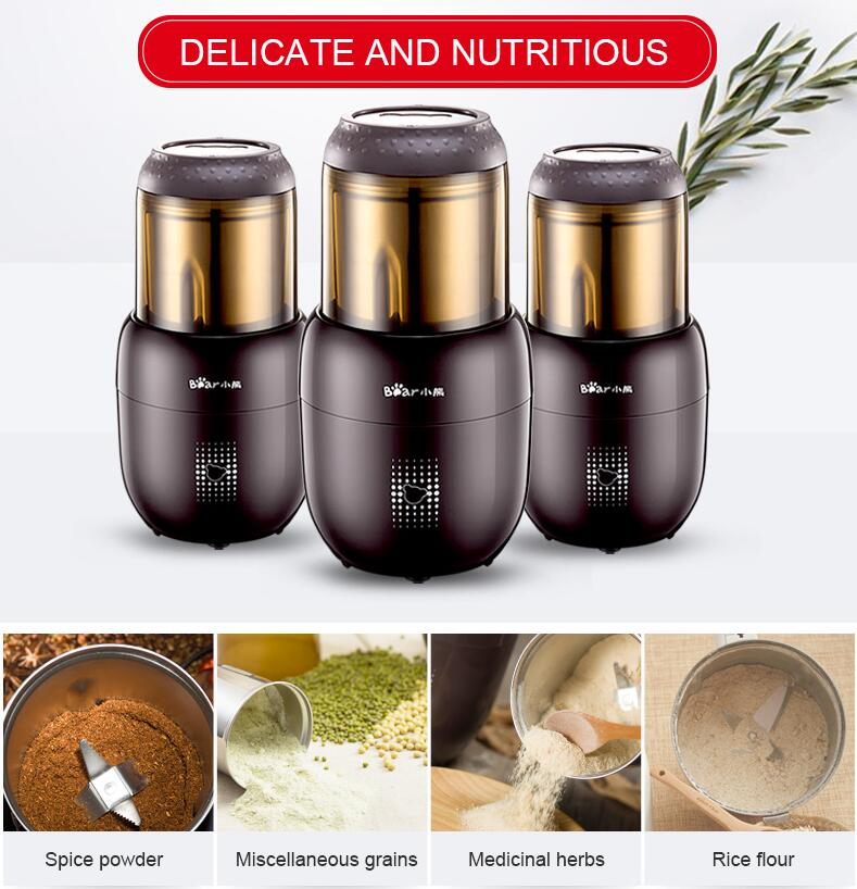 Small Multifunction Food Mill Grinding Machine Home Portable Stainless Steel 200g Food Mill Herbs Nuts Cafe Grinder FSJ-A03D1 арахис private home manual 200g 188g1
