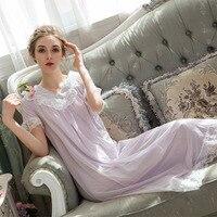 SpaRogerss Womens Nightgown Sleepwear Lace Modal Lady Night Gown Sleepwear Women Night Dress Student Lingerie Night Gown JH47