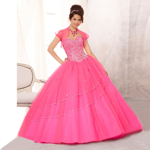 c9f656a3ad vestidos de quinceaneras 2017 dress for 15 years Sweet Turquoise Tulle Ball  Gown Crystal Top With Jacket Birthday Dress