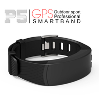 2017 Newest P5 Smart Bracelet GPS Location Outdoor Sports Band Heart Rate Altitude Barometer Theromometer Temperature