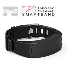 Big sale 2017 Newest P5 Smart Bracelet GPS Location Outdoor Sports Band Heart Rate Altitude Barometer theromometer Temperature Measuring