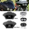 Внутренний Внешний обтекатель мотоцикла и двойная светодиодная фара 5 75 ''для Harley Road Glide 98-13 11 12