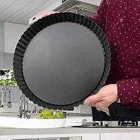 Антипригарный съемный свободный нижний Quiche форма-противень для кексов круглый пирог пицца Кастрюля со съемной основой