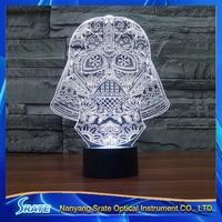 3D Vision Star Wars Stag LED Acrylic Plate 7 Colors Gradients Darth Vader Desk Lamp Bedroom