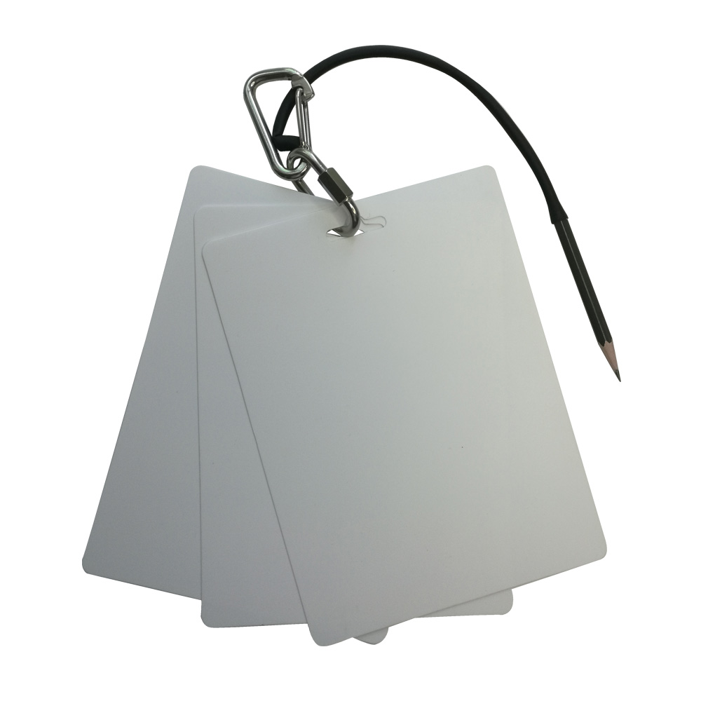 3 Panels Scuba Diving Writing Slate Pad Board With Pencil 316 Stainless Steel Quick Release Buckle Scuba Dive Gear