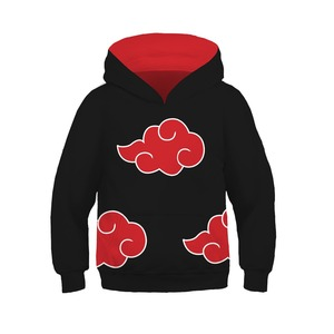 Image 2 - Kids Naruto Uchiha Sasuke Akatsuki Anime Hoodie Sweatshirt Jacket Coats Cosplay Costumes