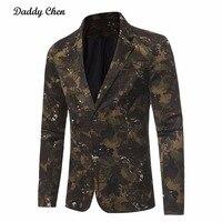 위장 재킷 남성 캐주얼 남성 재킷 2017 봄 새로운 도착 패션 남성 재킷 육군 녹색 블루 슬림 맞는 플러스 사이즈 3XL
