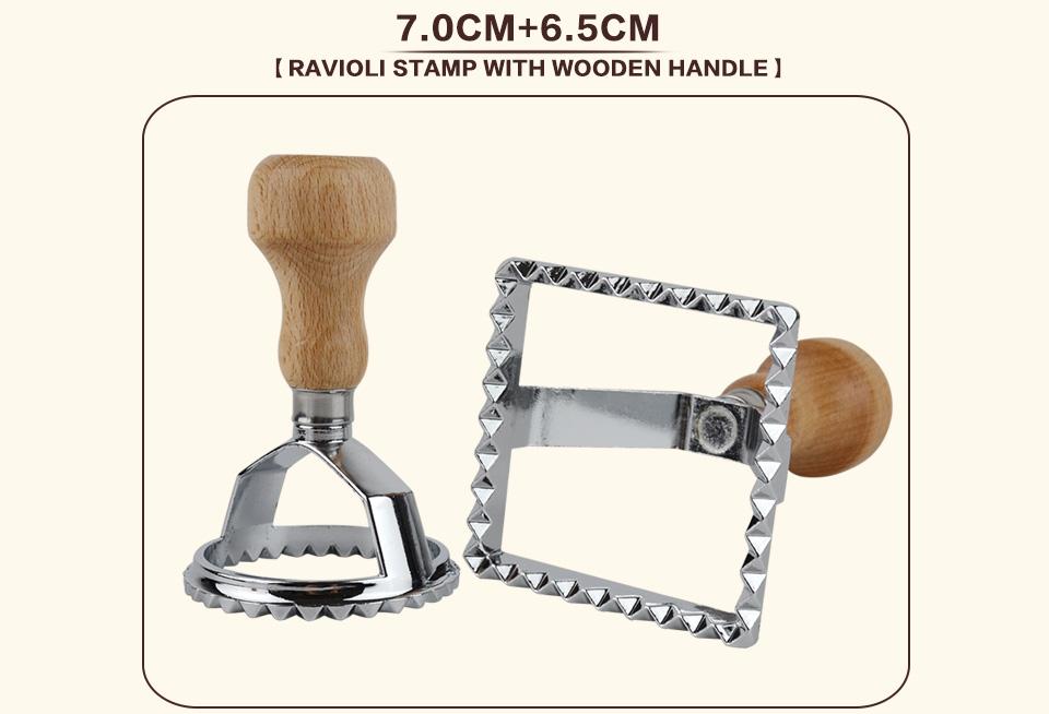 Italian Pasta Cutter Tool Ravioli Stamp set of 2_04