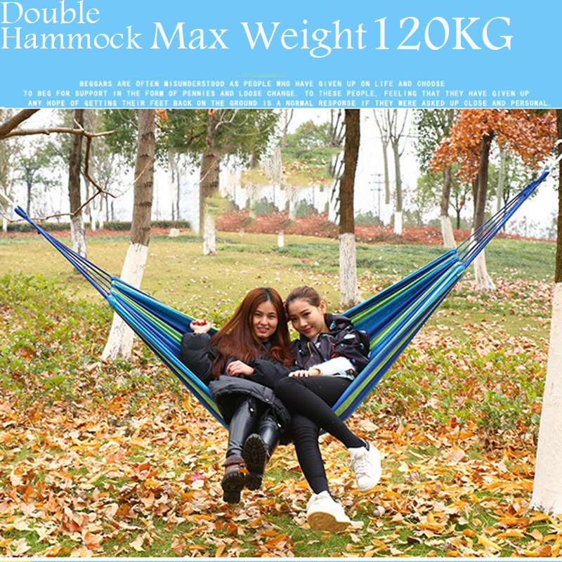 Thicken Canvas Double Camping Hammock Outdoors Durable Breathable 280x150cm Hammocks Like Parachute for Traveling Bushwalking