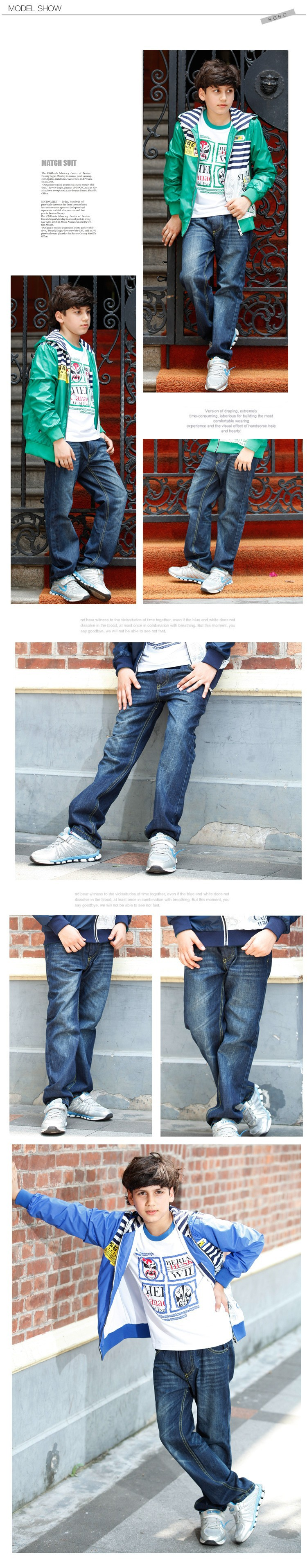 2015 New Fashion Big Boys Jeans Kids High Quality Brand Denim Trousers Children Casual Cowboy Pants Big Size 6 8 10 12 14 16 Y (6)