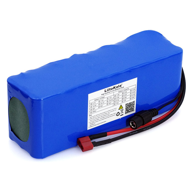 LiitoKala 36 V 10000 mAh 500 W high Power and Capacity 42 V 18650 lithium battery, electric motorcycle bicycle Scooter with BMS